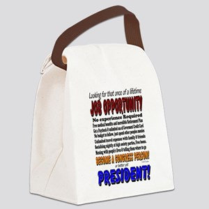Presidential Humor Canvas Lunch Bag
