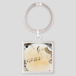 Music girl Keychains