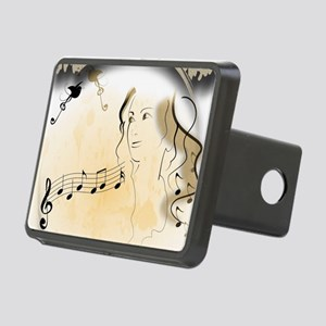 Music girl Rectangular Hitch Cover