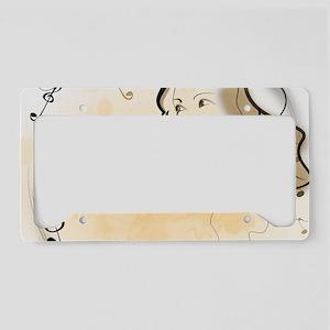 Music girl License Plate Holder