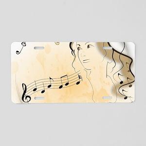 Music girl Aluminum License Plate