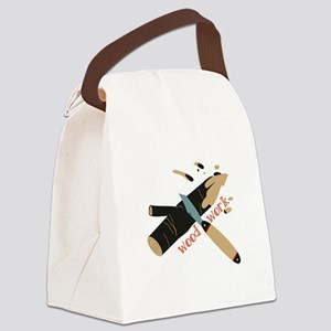 Wood Work Canvas Lunch Bag
