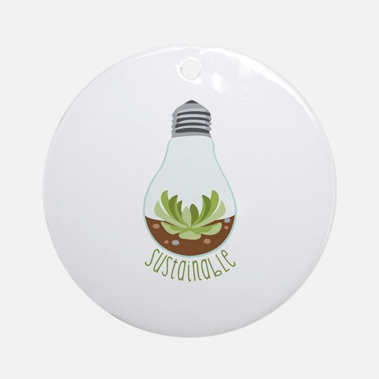 Sustainable Round Ornament
