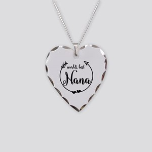 World's Best Nana Necklace Heart Charm