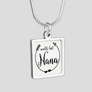 World's Best Nana Silver Square Necklace