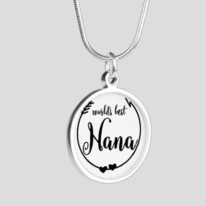World's Best Nana Silver Round Necklace