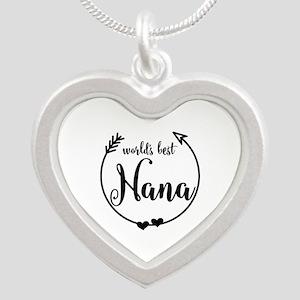 World's Best Nana Silver Heart Necklace