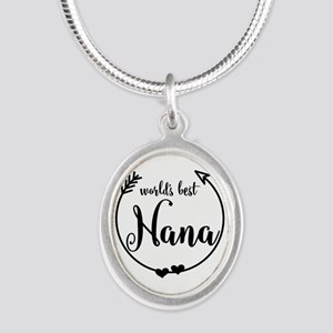 World's Best Nana Silver Oval Necklace