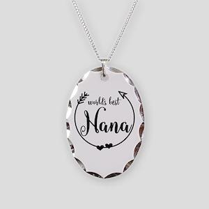 World's Best Nana Necklace Oval Charm