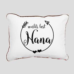 World's Best Nana Rectangular Canvas Pillow