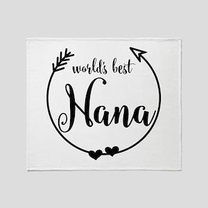 World's Best Nana Throw Blanket