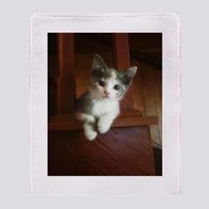 Adorable Calico Kitten Throw Blanket