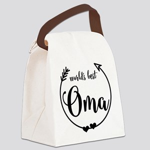 World's Best Oma Canvas Lunch Bag