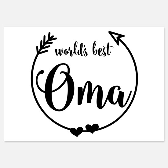 World's Best Oma Invitations