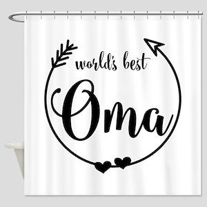 World's Best Oma Shower Curtain
