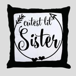 Gift Idea For Little Sister Throw Pillow