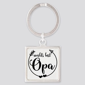 World's Best Opa Square Keychain
