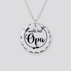World's Best Opa Necklace Circle Charm