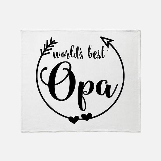 World's Best Opa Throw Blanket