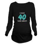 Custom Birthday Long Sleeve Maternity T-Shirt