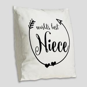 World's Best Niece Burlap Throw Pillow