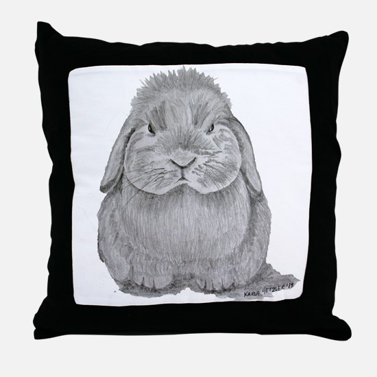 Holland Lop by Karla Hetzler Throw Pillow