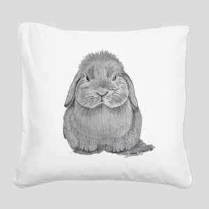 Holland Lop by Karla Hetzler Square Canvas Pillow