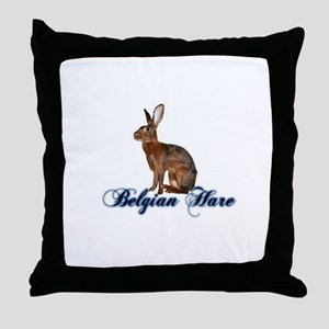 Belgian Hare Throw Pillow