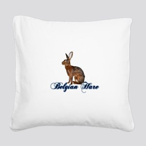 Belgian Hare Square Canvas Pillow