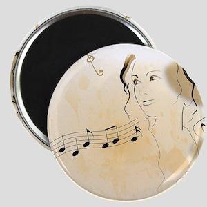 Music girl Magnets