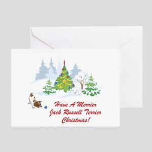 Jack Russell Terrier Xmas Greeting Card