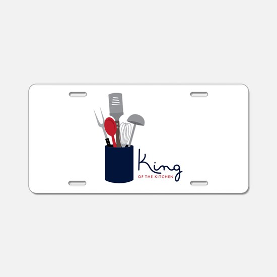 King Of Kitchen Aluminum License Plate