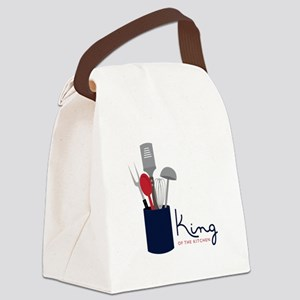 King Of Kitchen Canvas Lunch Bag