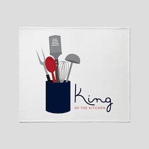 King Of Kitchen Throw Blanket