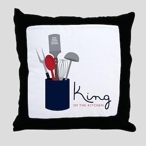 King Of Kitchen Throw Pillow