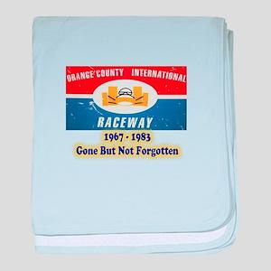 Orange County International Raceway baby blanket