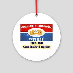 Orange County International Raceway Round Ornament