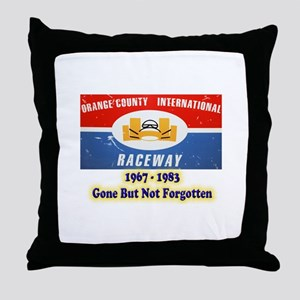 Orange County International Raceway Throw Pillow