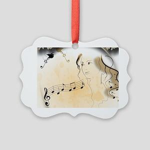 Music girl Picture Ornament