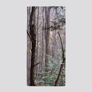 Scenery Of Trees Beach Towel