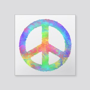 Distressed Rainbow Peace Sign Sticker
