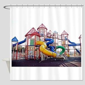 Kids Play Ground Shower Curtain