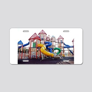 Kids Play Ground Aluminum License Plate