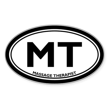 Massage Therapist Oval Sticker