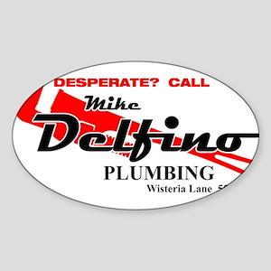 Mike Delfino Oval Sticker