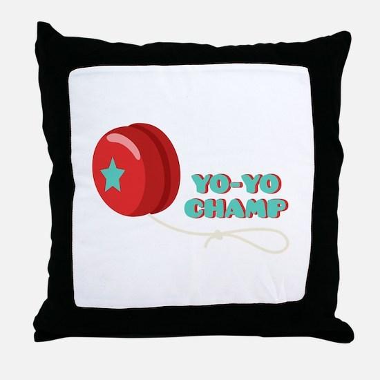 Yo-Yo Champ Throw Pillow