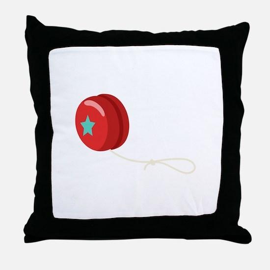 Yo-Yo Toy Throw Pillow