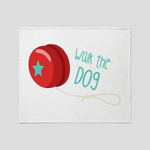Walk The Dog Throw Blanket