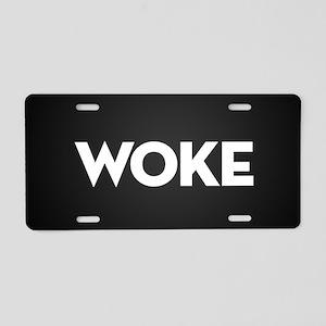 Woke Aluminum License Plate