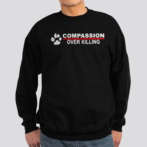 Compassion Over Killing Sweatshirt (dark)